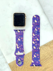 Halloween Ghost Printed Silicone Watch Band