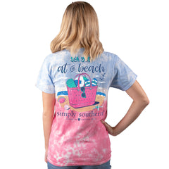 'Sea You at the Beach' Tie Dye Short Sleeve Tee by Simply Southern