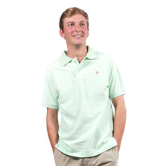 The Kennedy Woven Polo by Simply Southern - Lime