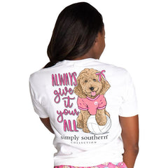 Youth 'Always Give It Your All' Volleyball Pup Short Sleeve by Simply Southern