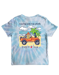 Youth 'Four Legs and Four Wheels' Tie Dye Short Sleeve by Puppie Love
