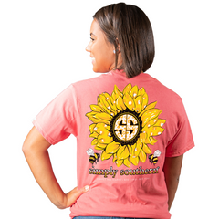 'Bee Happy Bee Kind Bee You' Sunflower Short Sleeve by Simply Southern
