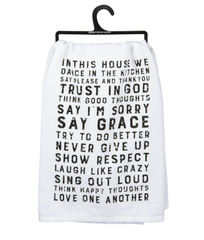In This House We Dance Kitchen Towel by Primitives by Kathy