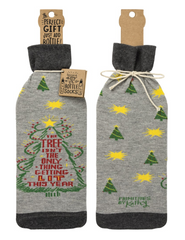 The Tree Isn't the Only Thing Getting Lit This Year Christmas Bottle Cover Holiday Gift Bag