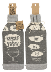 Wine is Always a Good Idea Wine Bottle Cover Gift Bag