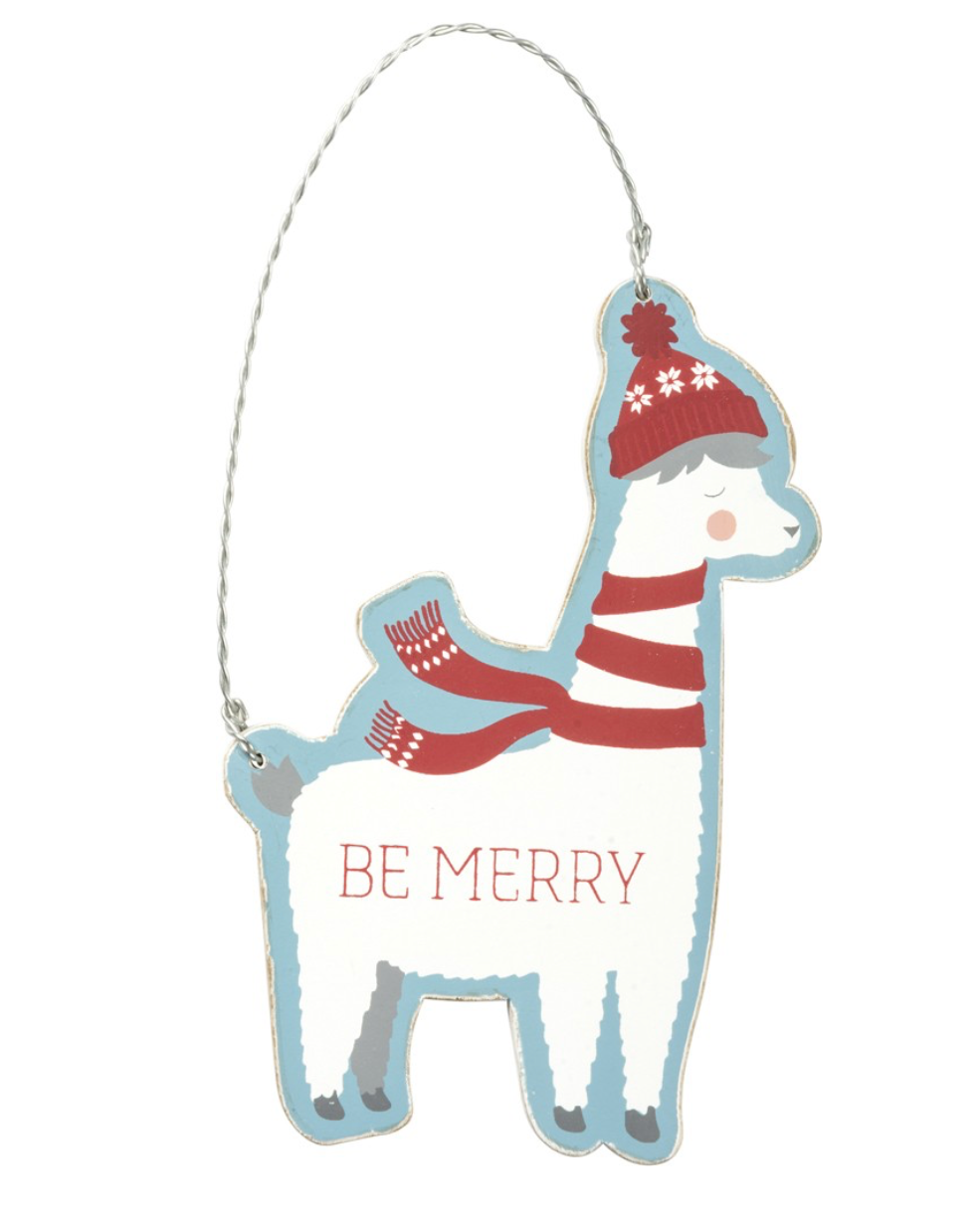 be merry llama christmas ornament
