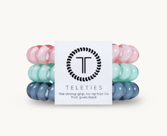 Teleties Hair Tie - Large Band Pack of 3 - Cotton Candy