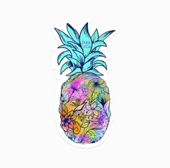 Floral Pineapple Sticker by Pura Vida
