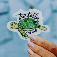 Turtelly Cool Sticker by Pura Vida