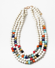 Clarence Beaded Multi Strand Statement Necklace