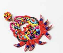 Crabby Seed Bead Dangles - Multi