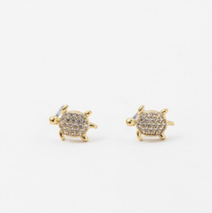 Cubic Zirconia Sea Turtle Studs