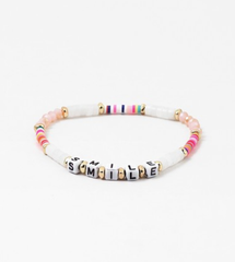 'Smile' Multi Color Stretch Bracelet