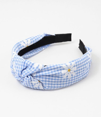 Daisy Gingham Knotted Headband