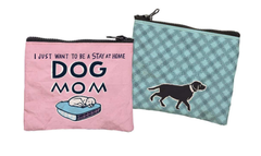 'Stay At Home Dog Mom' Zipper Wallet by PBK