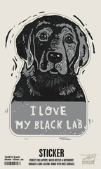 'I Love My Black Lab' Sticker by PBK