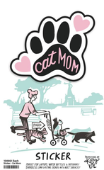 'Cat Mom' Sticker by PBK
