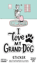 'I Love My Grand-Dog' Sticker by PBK