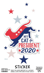 'My Cat For President 2020' Sticker by PBK