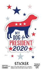 'My Dog For President 2020' Sticker by PBK