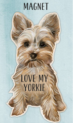 'Love My Yorkie' Dog Magnet by PBK