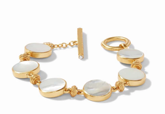Mother of Pearl Double Sided Coin Bracelet by Julie Vos