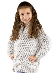 Youth Pearl Gray Mermaid Sherpa Pullover by Simply Southern