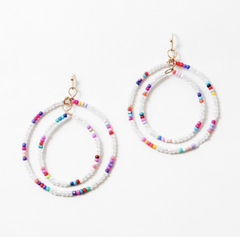 Clarissa Double Circle Beaded Earrings