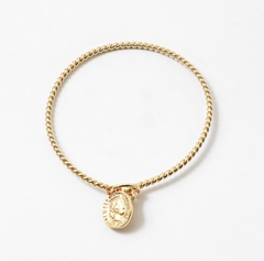 Bridgette Gold Coin Bangle