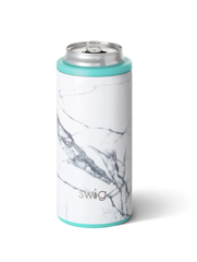 Marble Slab 12 oz Skinny Can Cooler by Swig