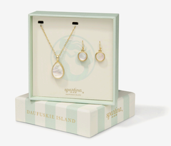Naia Necklace and Earring Set by Spartina - Pearlescent
