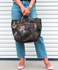 Codie Camo Nylon Tote (1-2 Week Production Time)