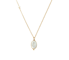 Darylann Freshwater Coin Pearl Necklace - Gold
