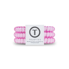 Teleties Hair Tie - Small Band Pack of 3 - Flamingo