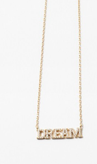 'Dream' Gold Delicate Necklace - Sterling Silver