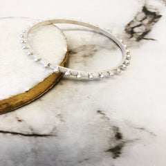 Emerson Studded Bangle Bracelet - Silver