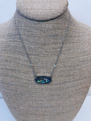 Isabelle Silver Abalone Pendant Necklace