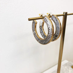 Adalynn Snakeskin Hoop Earrings
