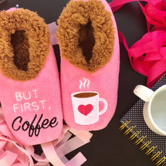 But First Coffee Slippers