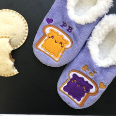 Peanut Butter and Jelly Slippers