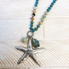 Stay Salty Beaded Starfish Necklace