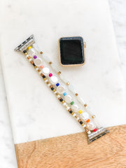 Stretch Bracelet Beaded Smart Watch Band  - Multi