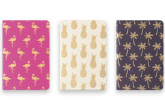 Tropical Three Pack Pocket Sized Journals