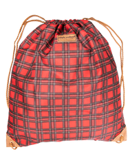 Plaid Drawstring Bag by Simply Southern