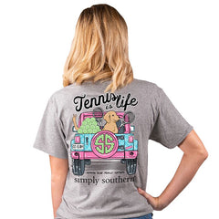 'Tennis is Life' Short Sleeve Tee by Simply Southern