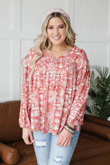 The Perfect Picnic Top in Red - 3/4