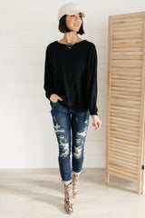 Simple Sass Top in Black - 1/26