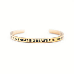 'Great Big Beautiful Tomorrow' Cuff Bracelet by Lillian & Co.
