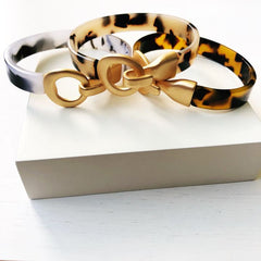 Tortoise Toggle Cuff Bracelets - Choice of Color