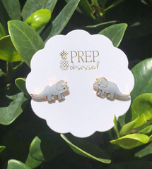 Triceratops Dinosaur Signature Enamel Studs by Prep Obsessed